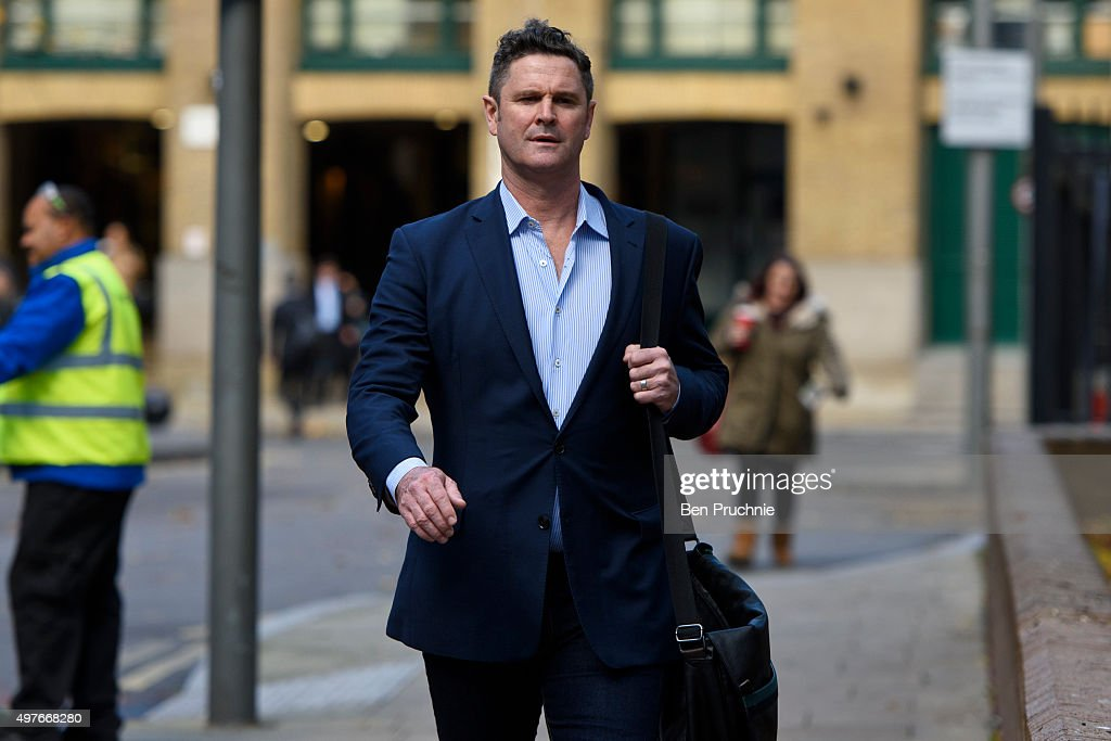 Chris Cairns arrives at Southwark Crown Court on November 18, 2015 in London, England. The former New Zealand cricketer Chris Cairns is currently in court on charges of perjury and perverting the course of justice while his Barrister Andrew Fitch-Holland denies one count of the criminal offence in preventing justice from being served.