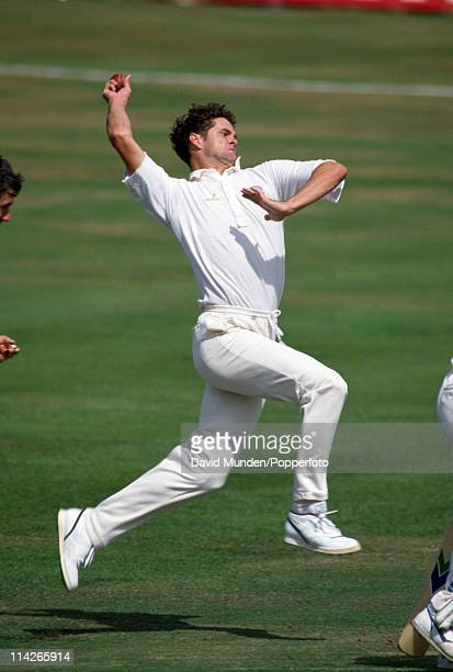 Chris Cairns bowling for Nottinghamshire during the Refuge Assurance League match against Leicestershire at Trent Bridge Nottingham on the 2nd August...