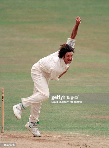 Chris Cairns bowling for Nottinghamshire during their County Championship match against Gloucestershire at Trent Bridge in Nottingham 22nd June 1996...