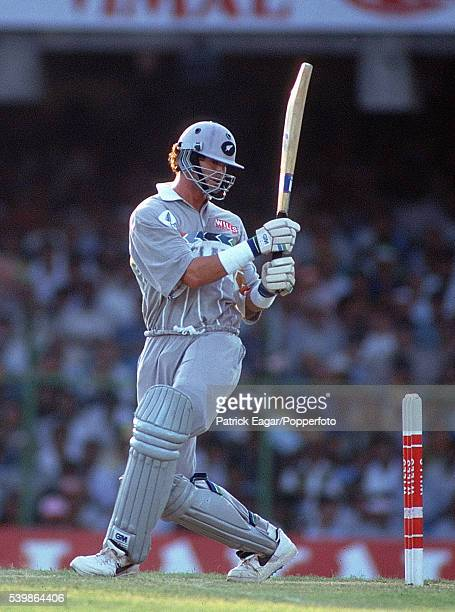 Chris Cairns of New Zealand batting during the Wills World Cup in India and Pakistan 11th March 1996
