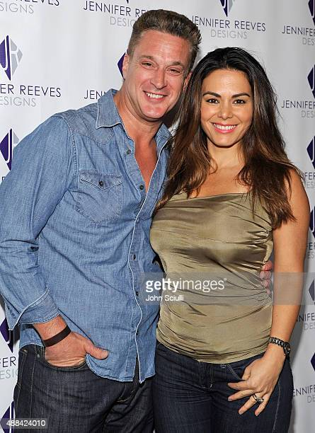 Chris Caldovino and Adriana Yanez attends the Jennifer Reeves Designs PreEmmy Awards Party at The Golden Box on September 15 2015 in Hollywood...
