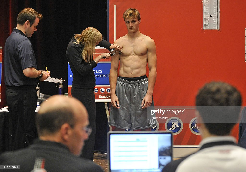 Chris Calnan #116 takes part in the 2012 NHL Combine June 2, 2012 at International Centre in Toronto, Ontario, Canada.