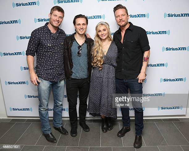 Chris Carmack Jonathan Jackson Clare Bowen and Will Chase of Nashville visit the SiriusXM Studios on May 6 2014 in New York City