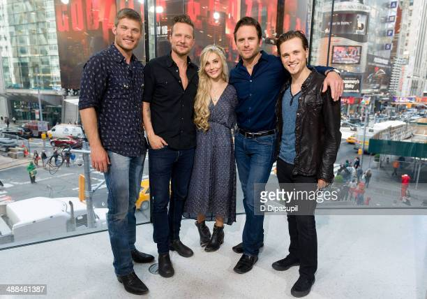 Chris Carmack Will Chase Clare Bowen Charles Esten and Jonathan Jackson of 'Nashville' visit 'Extra' at their New York studios at HM in Times Square...