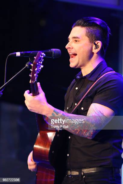 Chris Carrabba of Dashboard Confessional performs onstage at Pandora during SXSW at Stubb's BarBQ on March 15 2018 in Austin Texas