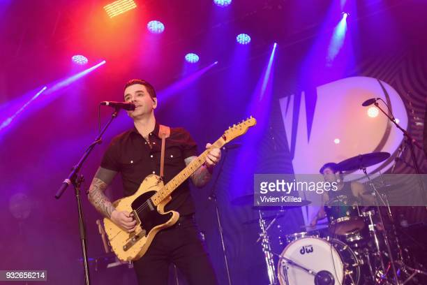 Chris Carrabba of Dashboard Confessional performs onstage during Pandora SXSW 2018 on March 16 2018 in Austin Texas