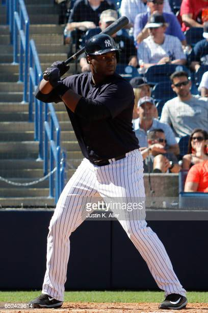 Chris Carter of the New York Yankees in action against the Detroit Tigers at George M Steinbrenner Field on March 11 2017 in Tampa Florida