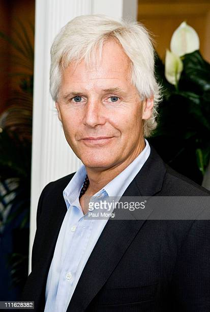Chris Carter 'The XFiles' series and film writer director and producer poses for a photo at the Twentieth Century Fox donation ceremony of a...