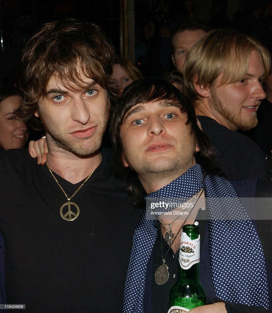Chris Cester and Nic Cester of Jet during Jet Los Angeles Concert After Party at Bar Marmont - October 5, 2006 at Bar Marmont in Los Angeles, California, United States.