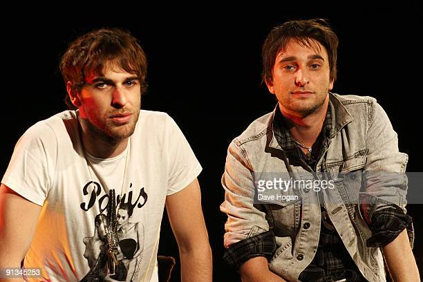 Chris Cester and Nic Cester of 'Jet' perform at a Biz Session to promote their new album 'Shaka Rock' on September 3 2009 in London England