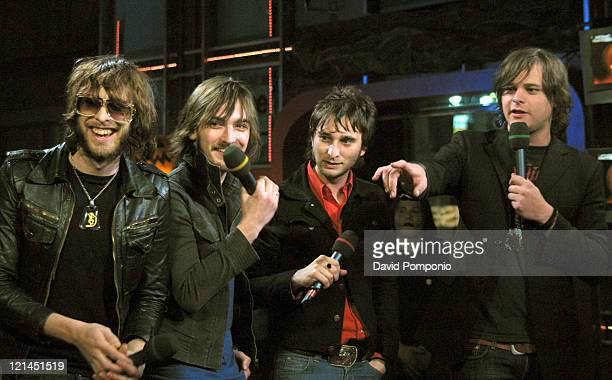 Chris Cester Cameron Muncey Nic Cester and Mark Wilson of Jet