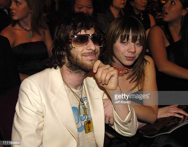 Chris Cester of Jet and guest during 32nd Annual American Music Awards Backstage at Shrine Auditorium in Los Angeles California