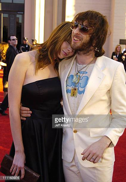 Chris Cester of Jet and guest during 32nd Annual American Music Awards Red Carpet at Shrine Auditorium in Los Angeles California