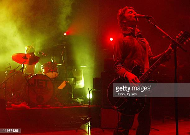 Chris Cester of Jet during Jet performs in Kansas City on March 30 2004 at Liberty Hall in Lawrence Kansas United States