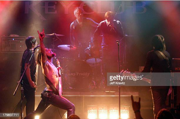 Chris Chaney Dave Navarro during Camp Freddy Benefit Concert for South East Asia Tsunami Relief at Key Club in Hollywood California United States