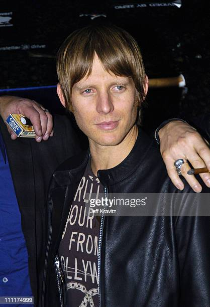 Chris Chaney of Camp Freddy during Camp Freddy Benefit Concert for South East Asia Tsunami Relief Backstage at Key Club in Hollywood California...