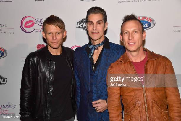 Chris Chaney Perry Farrell and Stephen Perkins of Jane's Addiction attend the 2017 Rhonda's Kiss Benefit Concert at Hollywood Palladium on December 8...
