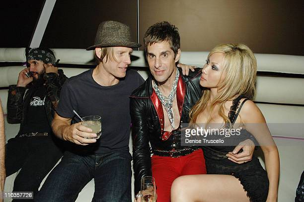 Chris Chaney singer Perry Ferrell and Etty Ferrell attend Slash's birthday celebration at The Mirage Hotel and Casino on July 23 2008 in Las Vegas...