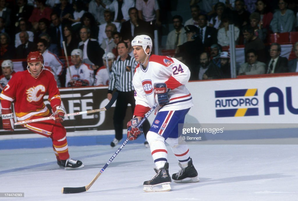 1989 Stanley Cup Finals - Game 4:  Calgary Flames v Montreal Canadiens : News Photo