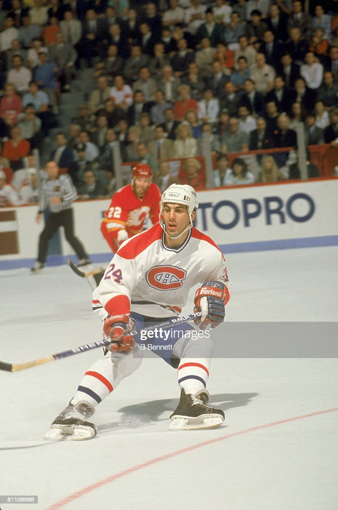 1989 Stanley Cup Finals:  Calgary Flames v Montreal Canadiens : News Photo