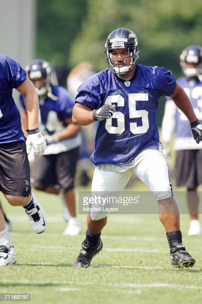 Chris Chester, second round draft of the Baltimore Ravens, during team minicamp on June 7, 2006 at Ravens practice facility in Owings Mills, Maryland.