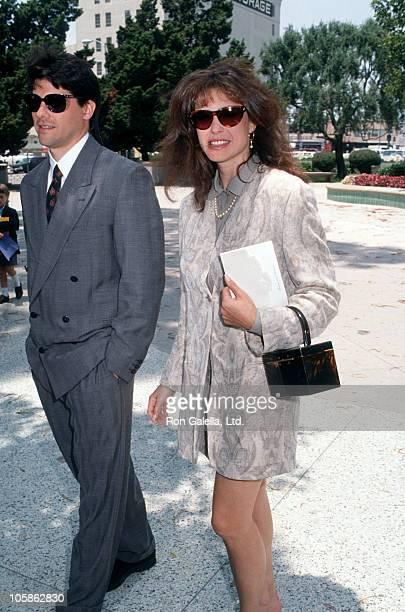 Chris Chiaffa and Mimi Rogers during Marina Sirtis Michael Lamper's Wedding at St Sophia Cathedral in Los Angeles California United States