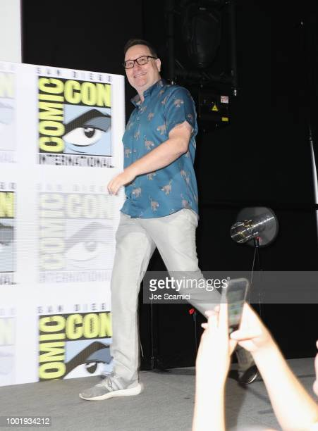 Chris Chibnall attends BBC America's 'Doctor Who' at ComicCon International 2018 at San Diego Convention Center on July 19 2018 in San Diego...