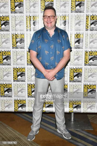 Chris Chibnall attends BBC America's 'Doctor Who' Press line during ComicCon International 2018 at Hilton Bayfront on July 19 2018 in San Diego...
