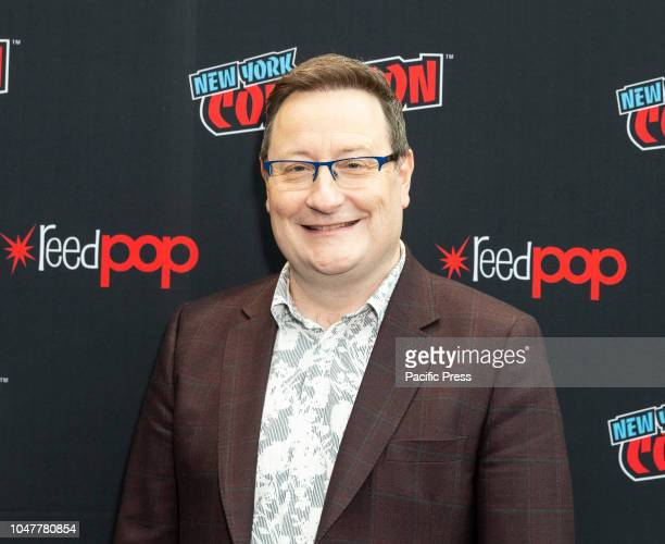 Chris Chibnall attends photocall for Doctor WHO new season during New York Comic Con at Jacob Javits Center