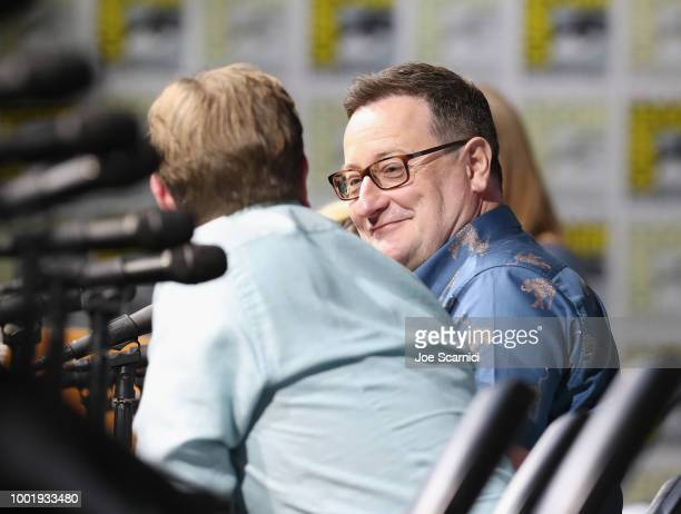 Chris Chibnall attends the Doctor Who BBC America's Official panel during ComicCon International 2018 at San Diego Convention Center on July 19 2018...