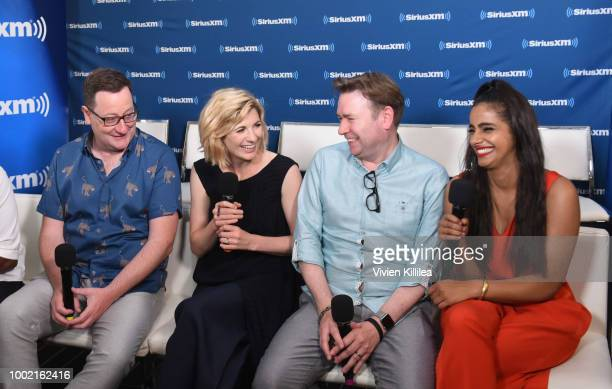 Chris Chibnall Jodie Whittaker Matt Strevens and Mandip Gill attend SiriusXM's Entertainment Weekly Radio Broadcasts Live From Comic Con in San Diego...
