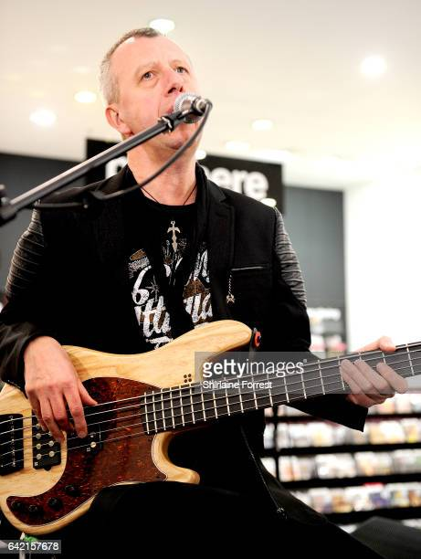 Chris Childs of Thunder performs live and signs copies of their new album 'Rip it Up' at HMV Manchester on February 16, 2017 in Manchester, United...