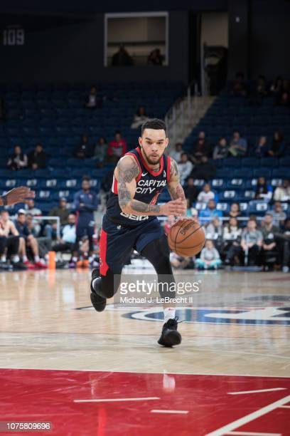 Chris Chiozza of the Capital City GoGo handles the ball against the Long Island Nets during the NBA G League on December 29 2018 at the Entertainment...