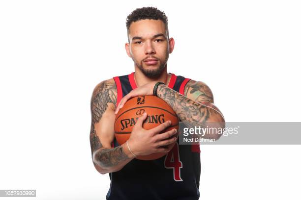 Chris Chiozza of the Capital City GoGo poses for a portrait during NBA GLeague media day in the Entertainment and Sports Arena at St Elizabeth's on...