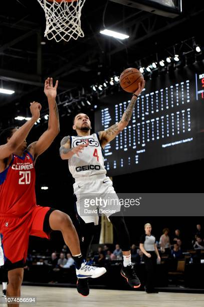 Chris Chiozza of the Capital City GoGo shoots the ball against the Agua Caliente Clippers during the NBA G League Winter Showcase at Mandalay Bay...