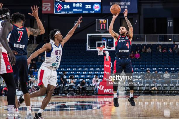 Chris Chiozza of the Capital City GoGo shoots the ball against the Long Island Nets during the NBA G League on December 29 2018 at the Entertainment...