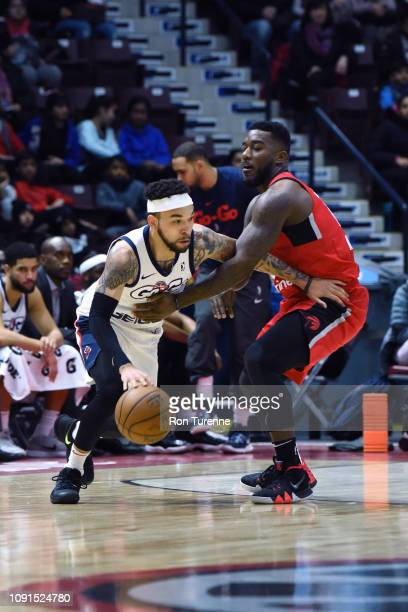 Chris Chiozza of the Capital City GoGos handles the ball against the Raptors 905 at the Paramount Fine Foods Centre on January 30 2019 in Mississauga...
