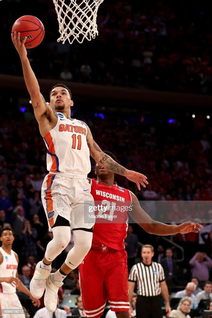 NCAA Basketball Tournament - East Regional - Wisconsin v Florida : News Photo