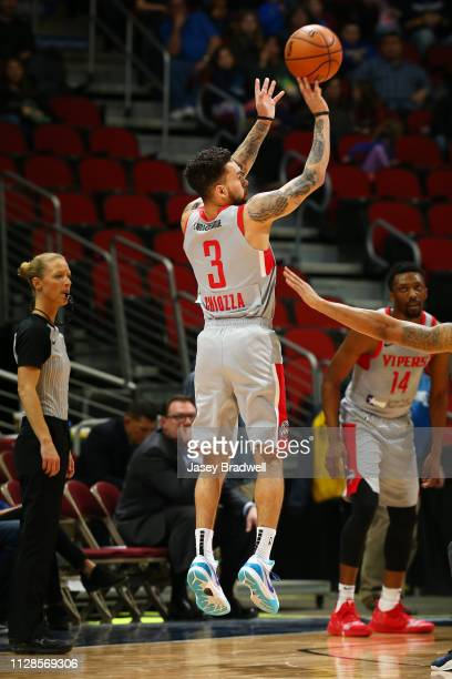 Chris Chiozza of the Rio Grande Valley Vipers shoots the ball against the Iowa Wolves during the NBA G League on March 3 2019 at the Wells Fargo...