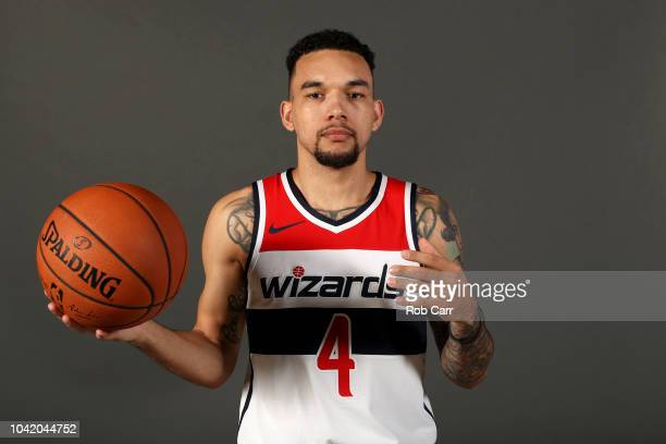 Chris Chiozza of the Washington Wizards poses during media day at Entertainment and Sports Arena on September 24 2018 in Washington DC NOTE TO USER...