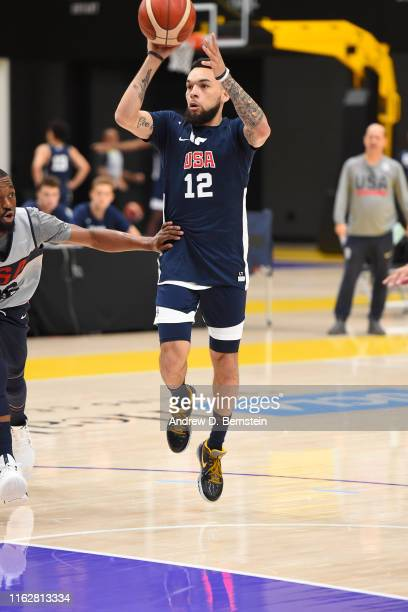 Chris Chiozza shoots the ball during 2019 USA Basketball Men's National Team Training Camp at UCLA Health Training Center on August 15 2019 in El...