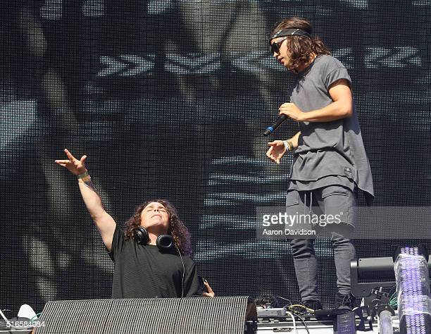 Chris Chronicles and Alex Andre of DVBBS perform at Ultra Music Festival 2016 Day 2 on March 19 2016 in Miami Florida