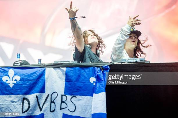Chris Chronicles and Alex Andre of DVBBS performing during Day 7 of the 50th Festival D'ete De Quebec on the Main Stage at the Plaines D' Abraham on...