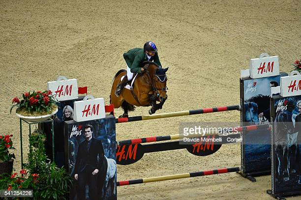 Chris Chugg of Australia riding Cristalline during the Longines FEI World Cup Jumping Final event at the Gothenburg Horse Show at Scandinavium Arena...