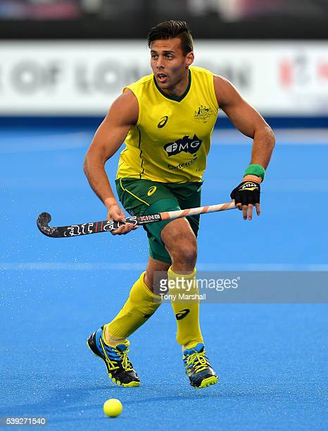 Chris Ciriello of Australia during the FIH Men's Hero Hockey Champions Trophy 2016 Day One match between Great Britain and Australia at Queen...