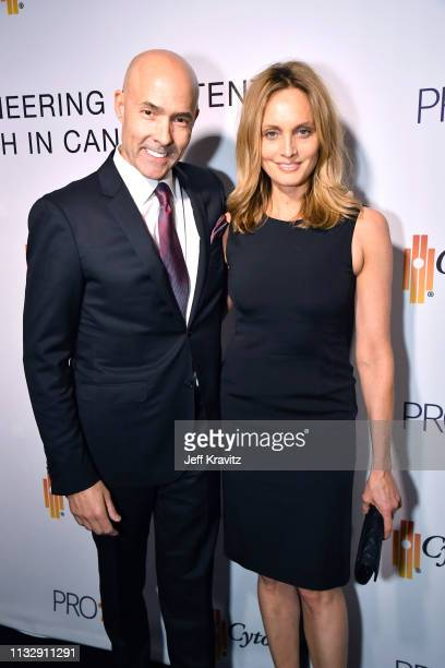 Chris Clark and Beri Smithers attend CytoDyn's Pro 140 Awareness Event for HIV and Cancer Prevention at The Roosevelt Hotel in Hollywood on February...