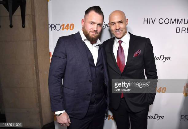 Chris Clark and guest attend CytoDyn's Pro 140 Awareness Event for HIV and Cancer Prevention at The Roosevelt Hotel in Hollywood on February 28 2019...