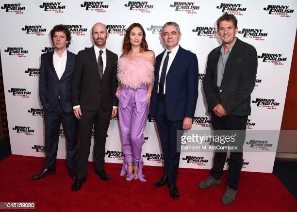 Chris Clark David Kerr Olga Kurylenko Rown Atkinson and Tim Bevan attend Special Screening of Johnny English Strikes Again at The Curzon Mayfair on...