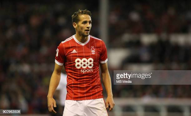 Chris Cohen in action during the second half of the EFL fixture between Nottingham Forest and Millwall at The City Ground Nottingham 4th August 2017