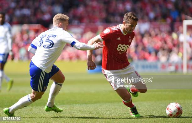 Chris Cohen of Nottingham Forest attempts to get past a defender during the Sky Bet Championship match between Nottingham Forest and Ipswich Town at...
